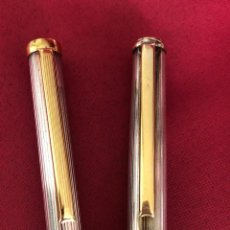 Stylos-plume Anciens, stylos-bille et becs de plume: JUEGO DE PLUMA Y BOLIGRAFO EN PLATA. Lote 218299376