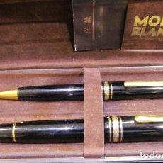 Estilográficas antiguas, bolígrafos y plumas: JUEGO MONTBLAC PLUMA Y BOLIGRAFO. Lote 218723767