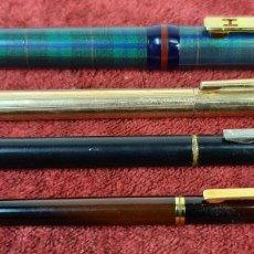 Estilográficas antiguas, bolígrafos y plumas: COLECCION DE 4 PLUMAS Y BOLIGRAFOS. PLASTICO Y METAL VARIAS MARCAS. AÑOS 60.. Lote 219175413
