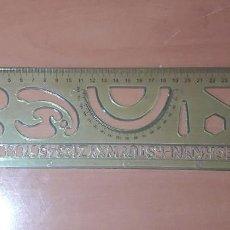 Estilográficas antiguas, bolígrafos y plumas: 12-00056 REGLA CON SEMICIRCULO. Lote 220679822