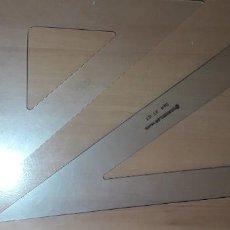 Estilográficas antiguas, bolígrafos y plumas: 12-00060 PACK ESCUADRA Y CARTABON STANDTLER -FAIBO. Lote 220687110