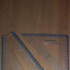 Estilográficas antiguas, bolígrafos y plumas: 12-00061 PACK REGLA -ESCUADRE Y CARTABON. Lote 220687235