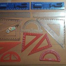 Estilográficas antiguas, bolígrafos y plumas: 12-00065 PACK REGLAS VARIADAS. Lote 220687627