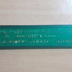Estilográficas antiguas, bolígrafos y plumas: 12-00067 PLANTILLA ROTULACION LETRAS SUN 4MM- 532 K. Lote 220687941