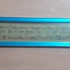 Estilográficas antiguas, bolígrafos y plumas: 12-00069 PLANTILLA ROTULACION LETRAS FABER CASTELL FEDER PEN 53-9323. Lote 220688115