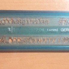Estilográficas antiguas, bolígrafos y plumas: 12-00070 PLANTILLA ROTULACION LETRAS STAEDTLER MARS 572 04- 4MM. Lote 220688336