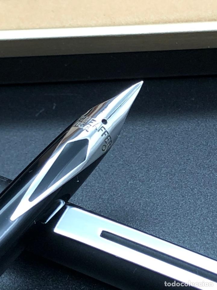 Estilográficas antiguas, bolígrafos y plumas: Juego SHEAFFER pluma y bolígrafo / relacionado montblanc waterman pelikan parker - Foto 4 - 221513757