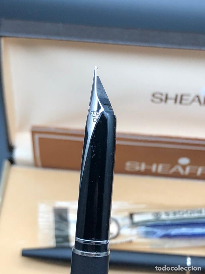 Estilográficas antiguas, bolígrafos y plumas: Juego SHEAFFER pluma y bolígrafo / relacionado montblanc waterman pelikan parker - Foto 5 - 221513757