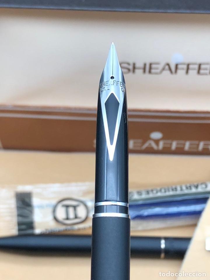 Estilográficas antiguas, bolígrafos y plumas: Juego SHEAFFER pluma y bolígrafo / relacionado montblanc waterman pelikan parker - Foto 6 - 221513757
