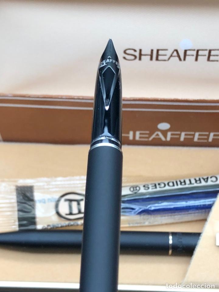 Estilográficas antiguas, bolígrafos y plumas: Juego SHEAFFER pluma y bolígrafo / relacionado montblanc waterman pelikan parker - Foto 7 - 221513757