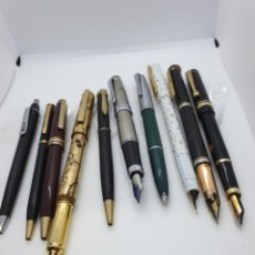 Estilográficas antiguas, bolígrafos y plumas: 5 BOLIS, 5 ESTILOGRAFICAS DEL AÑO DEL COPON ENVIO GRATUITO. Lote 221899402