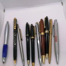 Estilográficas antiguas, bolígrafos y plumas: LOTE 9 BOLÍGRAFOS Y 1 PLUMA ENVIO GRATIS. Lote 221998701