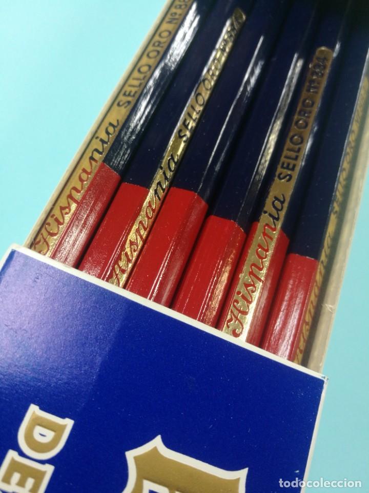 Estilográficas antiguas, bolígrafos y plumas: 12 lapices hispana bicolor impecables - Foto 2 - 222475318
