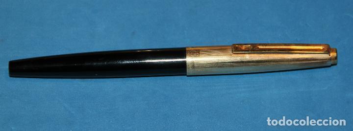 Estilográficas antiguas, bolígrafos y plumas: PLUMA ESTILOGRAFICA Y BOLIGRAFO INOXCROM 88 ORO - NUEVOS - Foto 2 - 226103195