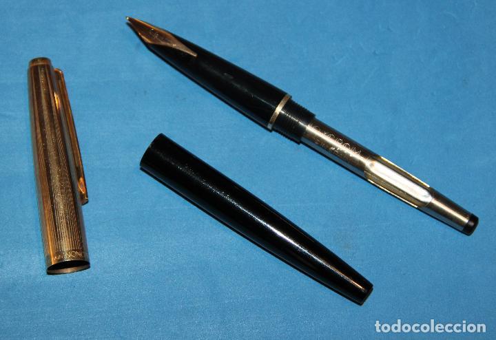 Estilográficas antiguas, bolígrafos y plumas: PLUMA ESTILOGRAFICA Y BOLIGRAFO INOXCROM 88 ORO - NUEVOS - Foto 6 - 226103195