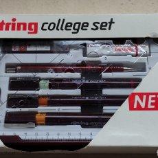 Estilográficas antiguas, bolígrafos y plumas: ROTRING---COLLEGE SET.. Lote 226790715