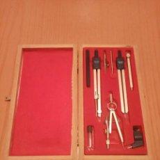 Estilográficas antiguas, bolígrafos y plumas: CAJA COMPAS - COMPLETO. Lote 229388815
