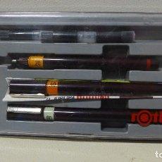 Estilográficas antiguas, bolígrafos y plumas: CONJUNTO ROTRING ISOGRAPH. Lote 234598395