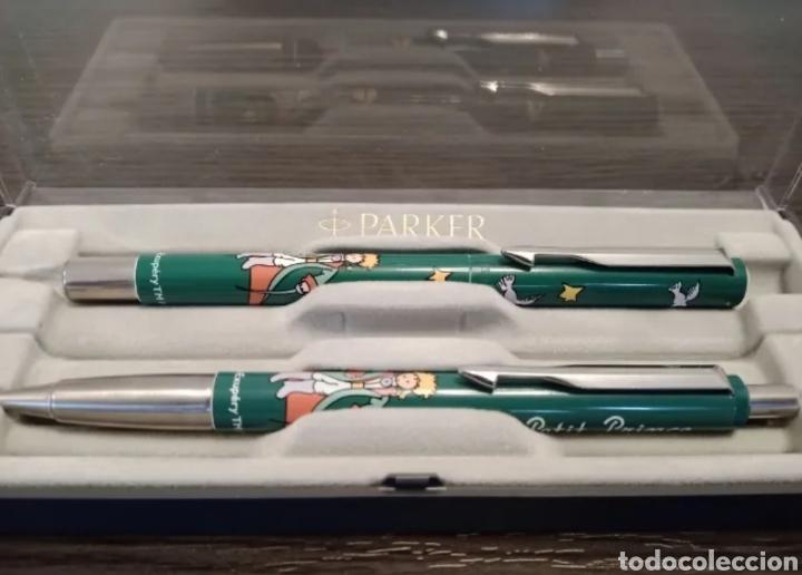 Estilográficas antiguas, bolígrafos y plumas: Antiguo Conjunto Bolígrafo y Roller PARKER VECTOR Ed. Especial EL PRINCIPITO - Foto 2 - 236368555