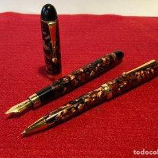 Estilográficas antiguas, bolígrafos y plumas: CONJUNTO PLUMA Y BOLÍGRAFO TOLEDO TIPO CONKLIN. Lote 236719390