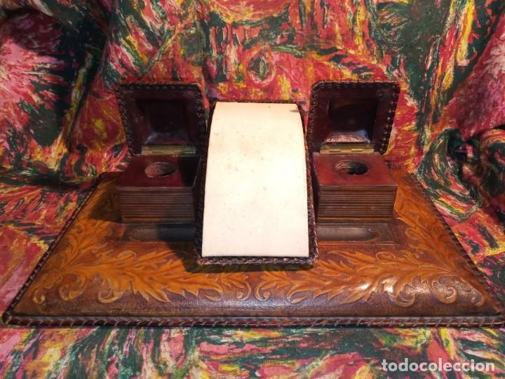 Estilográficas antiguas, bolígrafos y plumas: ESCRIBANIA - PIEL - Foto 2 - 240399790