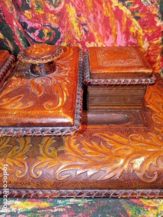 Estilográficas antiguas, bolígrafos y plumas: ESCRIBANIA - PIEL - Foto 3 - 240399790