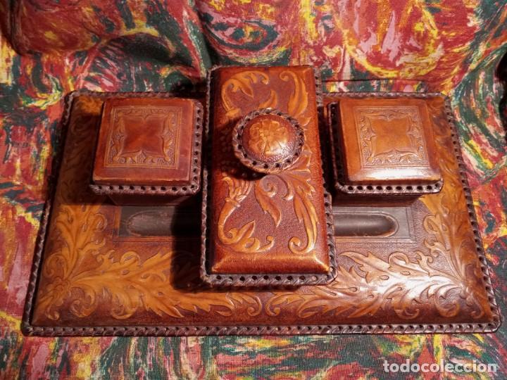 Estilográficas antiguas, bolígrafos y plumas: ESCRIBANIA - PIEL - Foto 4 - 240399790