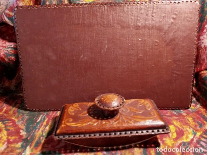 Estilográficas antiguas, bolígrafos y plumas: ESCRIBANIA - PIEL - Foto 5 - 240399790