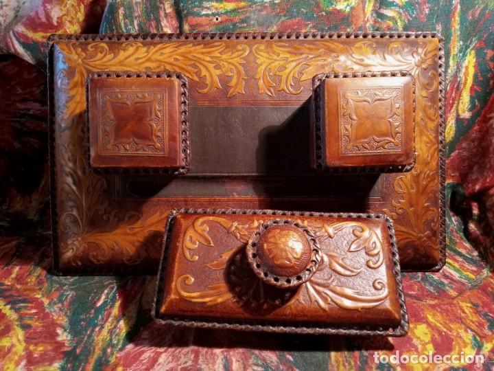 Estilográficas antiguas, bolígrafos y plumas: ESCRIBANIA - PIEL - Foto 6 - 240399790