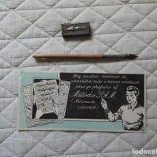 Stilografiche antiche, penne a sfera e penne: PLUMA ESCOLAR CON PLUMINES Y GUARDAPLUMINES.. Lote 241738660