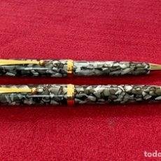 Estilográficas antiguas, bolígrafos y plumas: CONJUNTO PLUMA Y BOLÍGRAFO TOLEDO TIPO CONKLIN. Lote 243397700