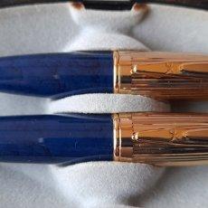 Estilográficas antiguas, bolígrafos y plumas: PLUMA Y BOLÍGRAFO VINTAGE ( LA CAIXA ). VER FOTOS.. Lote 244188285