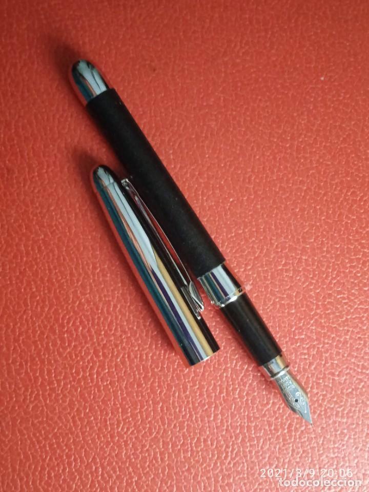 Estilográficas antiguas, bolígrafos y plumas: ESTILOGRAFICA Y BOLIGRAFO NICORETTE SIN USAR. - Foto 3 - 246784175