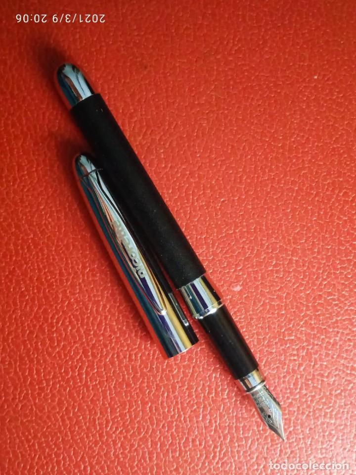 Estilográficas antiguas, bolígrafos y plumas: ESTILOGRAFICA Y BOLIGRAFO NICORETTE SIN USAR. - Foto 4 - 246784175