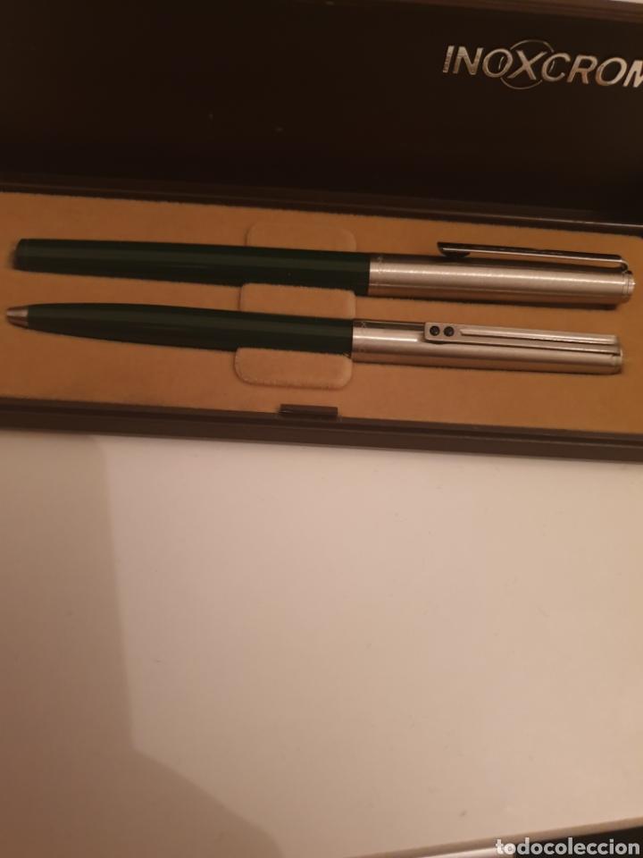 Estilográficas antiguas, bolígrafos y plumas: Bolígrafo pluma inoxrom - Foto 3 - 247537020