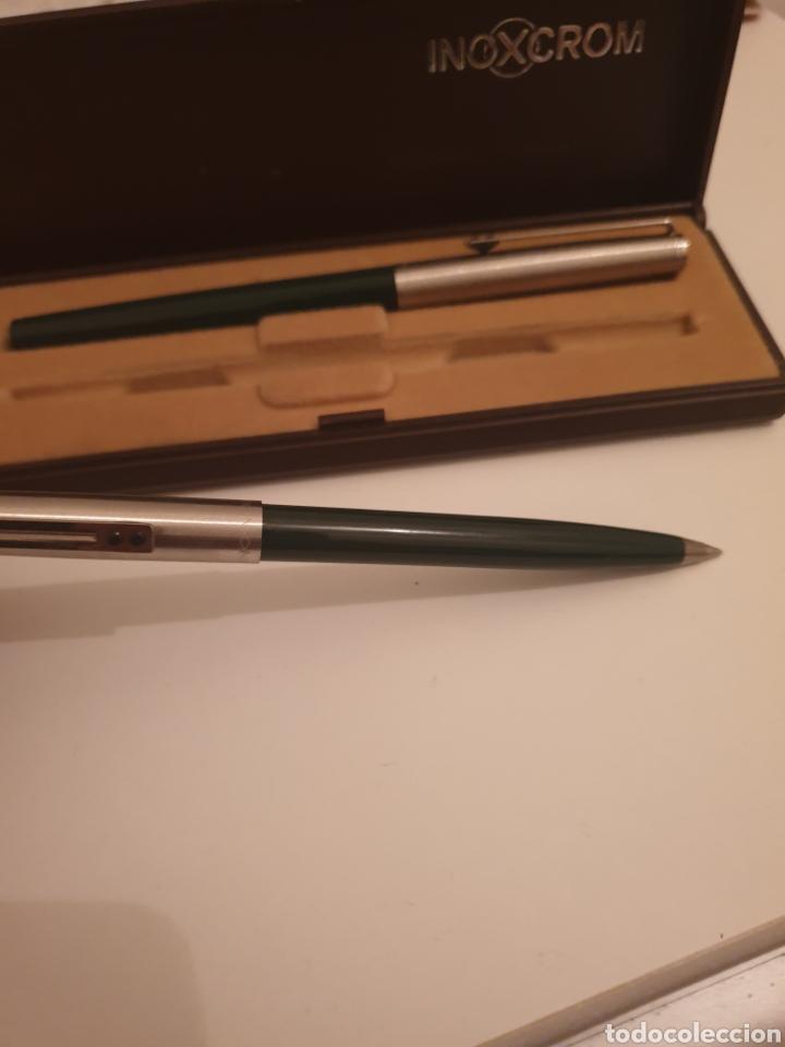 Estilográficas antiguas, bolígrafos y plumas: Bolígrafo pluma inoxrom - Foto 5 - 247537020