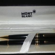 Estilográficas antiguas, bolígrafos y plumas: BOLÍGRAFO Y PLUMA MONTBLANC. Lote 251936035