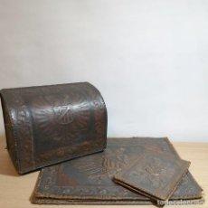 Estilográficas antiguas, bolígrafos y plumas: JUEGO DE ESCRITORIO CASTELLANO. Lote 253701825