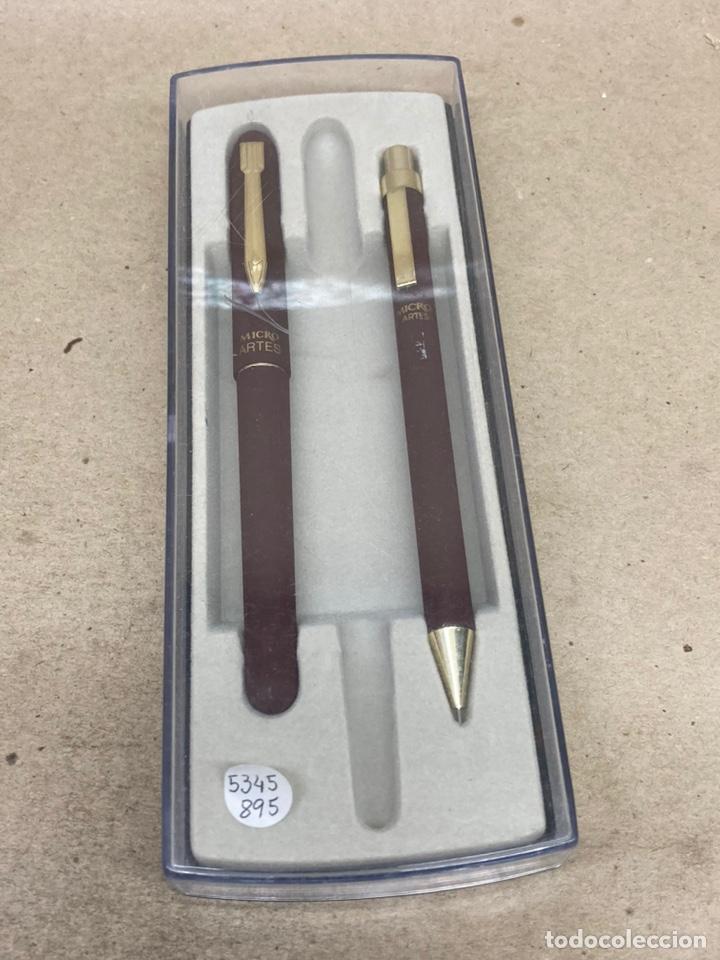 Estilográficas antiguas, bolígrafos y plumas: Juego Micro portaminas y bolígrafo en su estuche - Foto 2 - 254314150