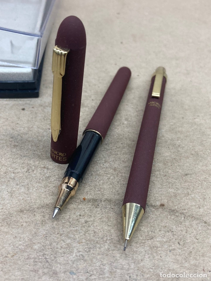 Estilográficas antiguas, bolígrafos y plumas: Juego Micro portaminas y bolígrafo en su estuche - Foto 4 - 254314150
