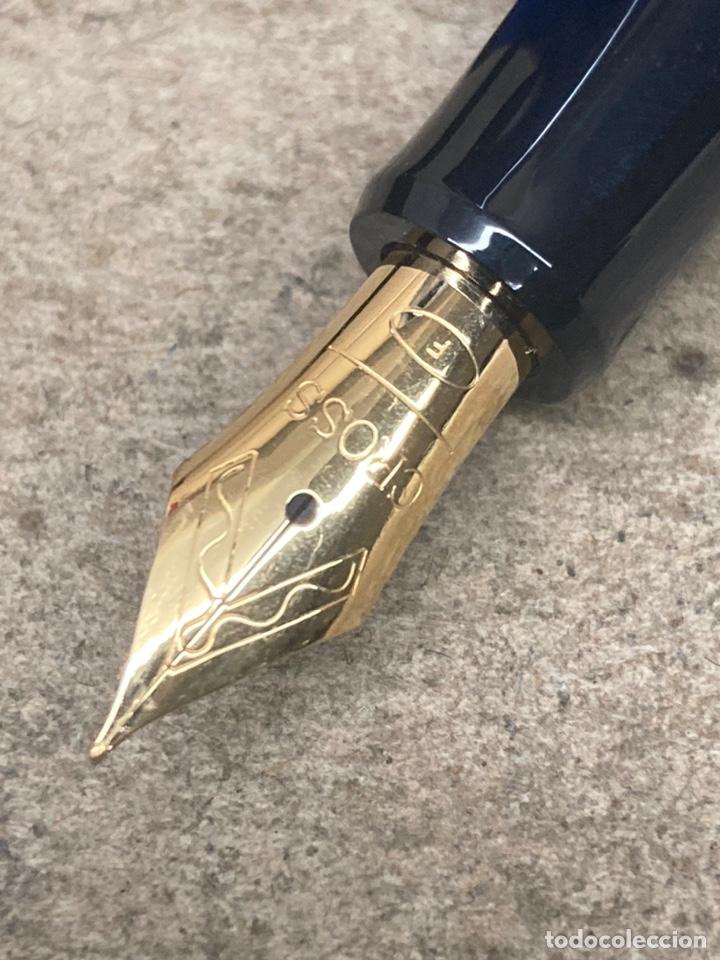 Estilográficas antiguas, bolígrafos y plumas: Juego Cross pluma y bolígrafo cuerpo acerado - Foto 3 - 254671835