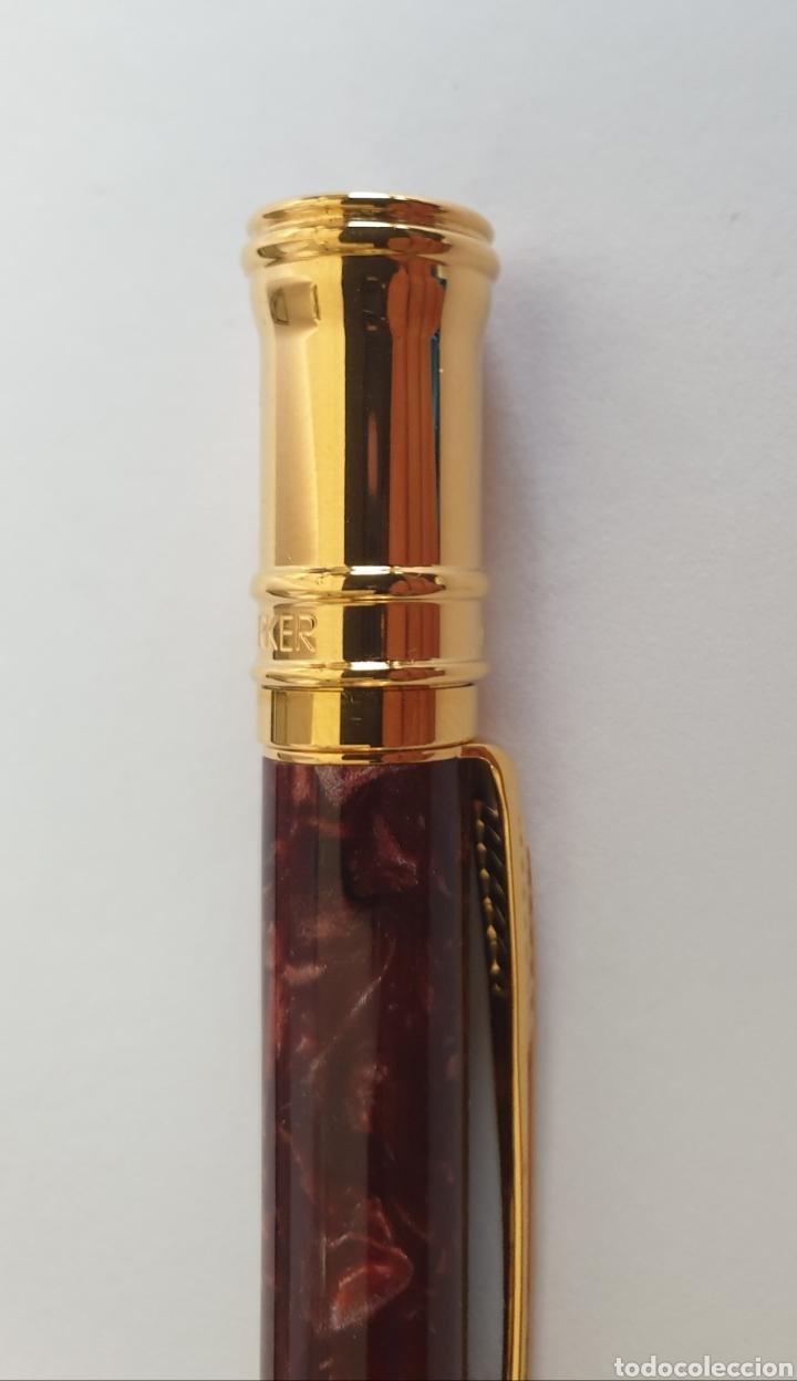 Estilográficas antiguas, bolígrafos y plumas: Lote Parker Duofold Marble Maroon Pluma,Rollerball,Ball Pen y Pencil - Foto 16 - 254749235