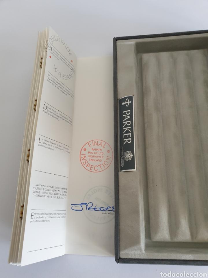 Estilográficas antiguas, bolígrafos y plumas: Lote Parker Duofold Marble Maroon Pluma,Rollerball,Ball Pen y Pencil - Foto 21 - 254749235