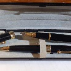 Estilográficas antiguas, bolígrafos y plumas: ESTUCHE PLUMA Y BOLIGRAFO. Lote 254831700