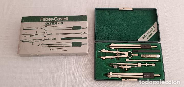 JUEGO DE COMPÁS FABER CASTELL ULTRA S (Plumas Estilográficas, Bolígrafos y Plumillas - Juegos y Conjuntos)