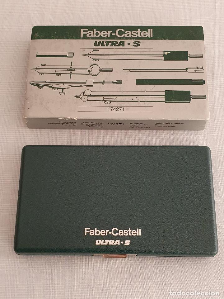 Estilográficas antiguas, bolígrafos y plumas: Juego de compás Faber Castell Ultra S - Foto 3 - 254986125