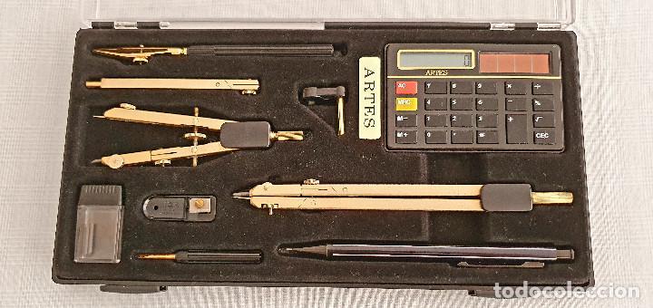 Estilográficas antiguas, bolígrafos y plumas: Juego de compás ARTES - Foto 2 - 254991280