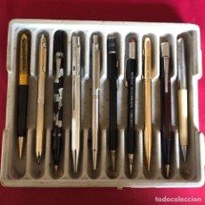 Stilografiche antiche, penne a sfera e penne: 10 ANTIGUOS PORTAMINAS Y BOLÍGRAFOS. Lote 260512690