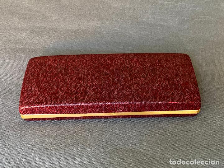 Estilográficas antiguas, bolígrafos y plumas: SHEAFFER estuche con ballpoint pen , boligrafo y pluma , mod. 777 imperial - Foto 12 - 260868355