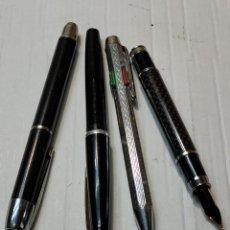Estilográficas antiguas, bolígrafos y plumas: LOTE BOLÍGRAFOS Y PLUMA ESTILOGRÁFICA LOS DE LAS FOTOS. Lote 261976490